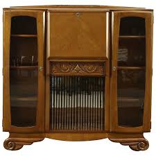 art deco oak 1930 s vintage secretary desk bar cabinet england 28781