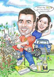 s 21st caricature crossroads 30th birthday gift