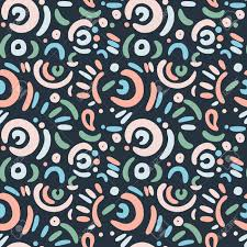 Repetition In Design Simple Seamless Doodle Art Funny Pattern Repetition Surface