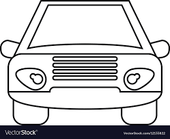 car outline front. Delighful Car With Car Outline Front VectorStock
