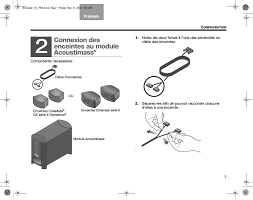 connexion des enceintes au module acoustimass bose cinemate gs Bose CineMate Series II at Bose Cinemate Series Ii Wiring Diagram