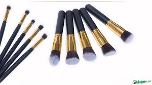 11 11 us s promotion makeup brushes new black 10pc set cosmetics foundation blending blush wooden makeup