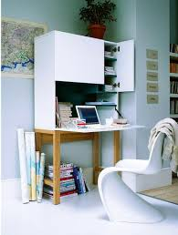 compact office shelving unit. Above: A Compact Office Space Via My Deco. Shelving Unit I