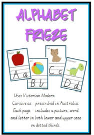 Alphabet Frieze Charts Vic Cursive Uses Victorian Modern