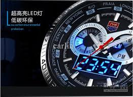 2013 trendy men s sport watch fashion led analog dive watch for 1 brand new and 100% high quality 2 the case is made of 304 stainless steel 3 have founction of time date week and it is very easy to time by