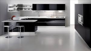modern kitchen black and white. Kitchen : Modern White And Black Interior Design In Open Floor 3