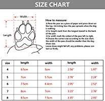 Qumy Dog Boots Size Chart Amazon Com Qumy Dog Boots Waterproof Shoes For Large Dogs