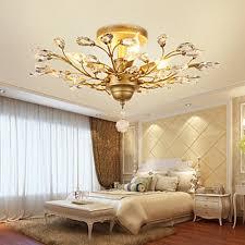 flush mount metal vintage crystal black or gold painting living room ceiling light at lighthotdeal com