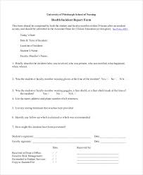 Blank Incident Report Template 17 Free Pdf Format Download