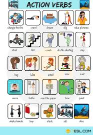 List Of Active Verbs Action Verbs List Of 50 Common Action Verbs With Pictures