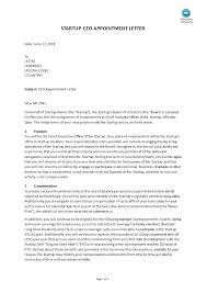 Letter Of Recommendation For Appointment To Board Appointment Chief Executive Officer Letter Do You Need An