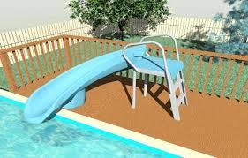 Diy Pool Slide Above Ground Pool Decks With Slide Diy Pool Rock