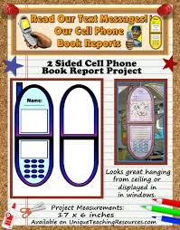 Cell Phone Book Report Project Templates Worksheets Grading