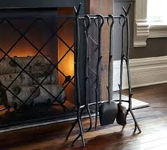 copper fireplace tool set twig fireplace tool set pottery barn antique copper fireplace tool set