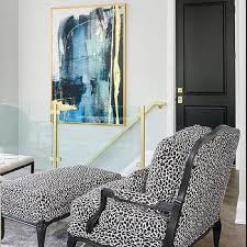 black and white animal print french bergere chairs