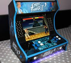street fighter ii bartop arcade with hyperspin 7 steps with