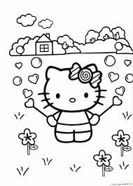 Kleurplaat Hello Kitty ᴄ ᴏ ʟ ᴏ ʀ ɪ ɴ ɢ Hello Kitty Coloring