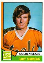 simmons hockey. 1974 o-pee-chee gary simmons #371 hockey card 0