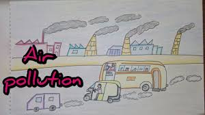 How To Make Chart On Pollution Drawing Tutorial Drawing On Air Pollution Save Environment Easy Drawing Creative Ideas