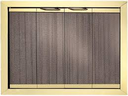 portland trim fyre glass fireplace doors polished brass for beautiful glass fireplace screens with doors
