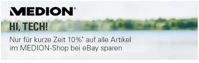 Medion Gutschein: 15% eBay-Rabatt - Juli / August 2018