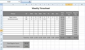 Timesheets Xls Hssf And Xssf Examples