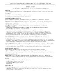 Example Of Teacher Resume Best Resume Examples For Teachers With Experience High School Resume