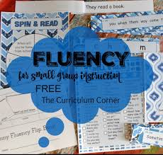 Fluency For Small Groups The Curriculum Corner 123