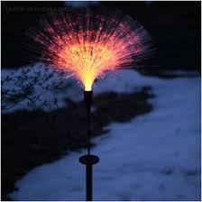 delightful fiber optic led garden light