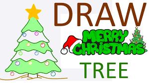 Christmas For Kids Christmas Tree How To Draw Christmas Tree From Kids Greeting