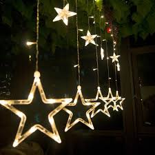 How To Plug In All Christmas Lights Led Christmas Lights 110v 220v Plug Fairy Lights Star Curtain String Light Holiday Lights For Party Decoration