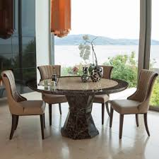 ravena marble large round 6 seater dining set 21225