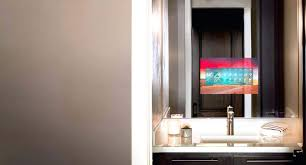 tv behind mirror bathroom mirror become one tv behind mirror bathroom diy