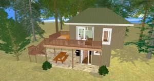 Custom Plans   Cozy Home Planscozyhomeplans com sq ft small house floor plan  quot Tree House quot