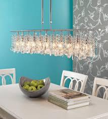 beautiful linear chandelier dining room