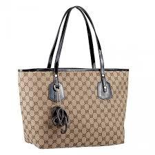 large gucci heart bit slim handles black patent leather detail brown enamel trim female canvas tote bag