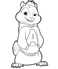 Small Picture Alvin And The Chipmunks Coloring Pages GetColoringPagescom