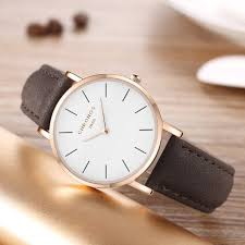 cute and simple leather quartz og dial watches for womens zerocutlet com