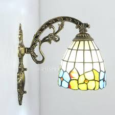 tiffany wall sconces bedroom for stained glass with one light stained glass wall sconce stained glass