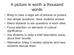 tips for teaching culture ppt a picture is worth a thousand words