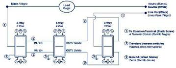 5604 2w 15 amp decora rocker 4 way ac Four Way Switch Wiring Diagram 4-Way Switch Schematic