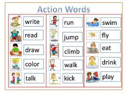 Action Words Chart With Pictures Action Verbs Chart Worksheets Teaching Resources Tpt