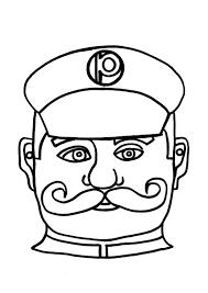 Kleurplaat Masker Politieagent Afb 9184