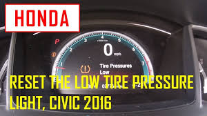 Reset Tire Pressure Light Honda Accord Reset The Low Tire Pressure Light Honda Civic 2016