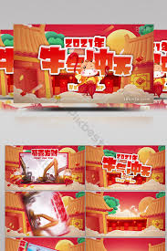 Happy year of the ox! Cartoon Year Of The Ox New 2021 Wishes Festive Graphic Template Video Aep Free Download Pikbest