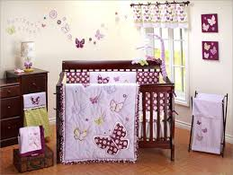 butterfly crib bedding baby sets purple pink set .