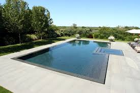 Modern Infinity Pool Edge Of A Trendy Design In New York Throughout Perfect