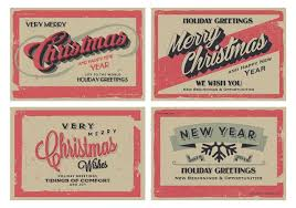 Free Holiday Photo Greeting Cards Vintage Holiday Greeting Cards Vector Download Free