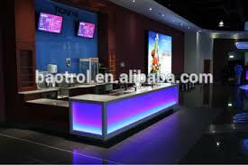 under desk led lighting. Restaurant Snack Bar Counter With LED Light Reception Desk Under Led Lighting N