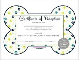 Microsoft Certificate Templates Free Male Dog Birth Adoption Certificate Template Free Microsoft Word